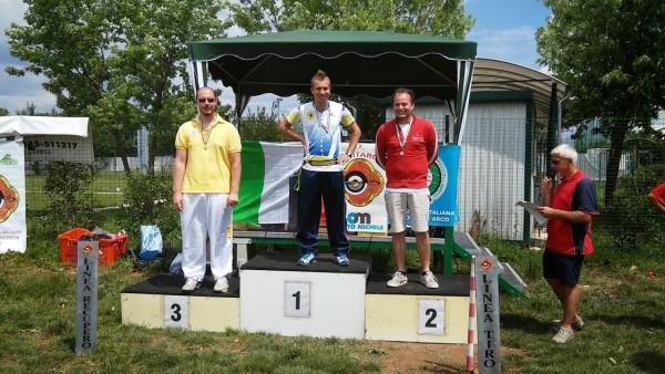 Il podio Olimpico senior maschile